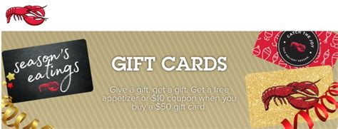 red lobster canada coupon get a free appetizer or 10 coupon when you buy a 50 gift - Where To Buy Red Lobster Gift Cards Canada