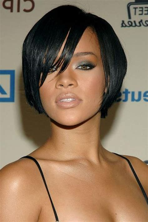 very short hair styles with center part black women inverted bob hairstyles center parted for