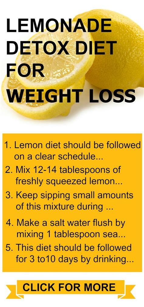 Lemonade Diet Recipe For Weight Loss