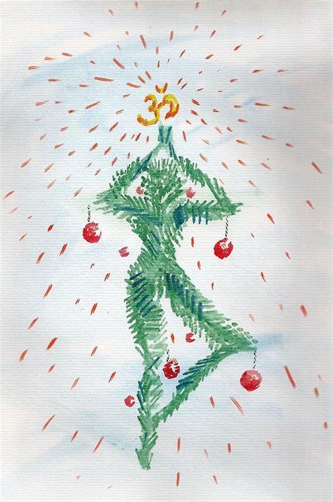 images of christmas yoga yoga christmas drawing by anastasiya brazhnykova