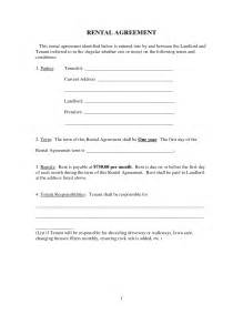 Landlord Rental Contract Template by Best Photos Of Printable Rental Agreement Template
