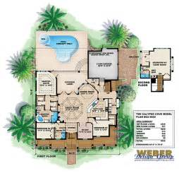 Florida House Plans With Pool Florida House Plans Florida Style Home With 5 Bdrms 5565