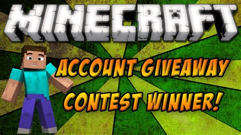 Minecraft Account Giveaways - minecraft account giveaway winner announcement youtube