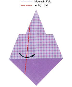 Necktie Origami - how to make a traditional origami necktie page 4