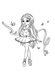 coloring pages coloring ballerina printable coloring