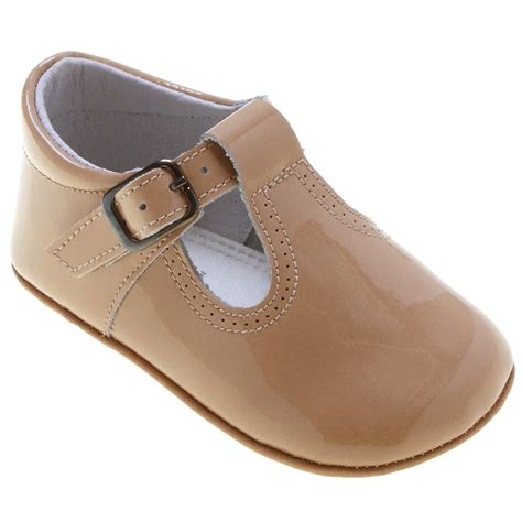 t shoes baby t bar shoes in caramel colour