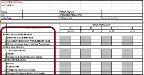 cara membuat kuesioner penilaian kinerja contoh form penilaian kinerja karyawan pelaksana