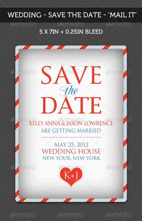 Wedding Save The Date Mail It By Katzeline Graphicriver Save The Date Flyer Template