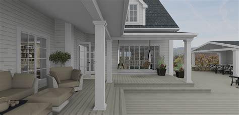 offene veranda 3d visualisierung beachhouse living