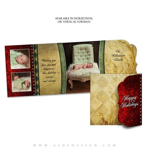 Folded Luxe Card Templates by Ashe Design Couture Folded Luxe Cards