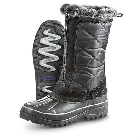 s bass 174 finny boots black 303637 winter snow