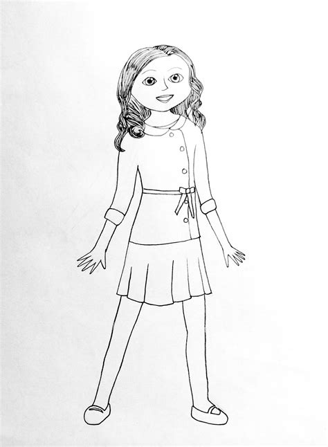 Free Coloring Pages Of American Girl Doll 4027 American Doll Coloring Pages To Print Free