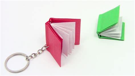 How To Make Paper Key - origami book key chain como fazer um livro de origami
