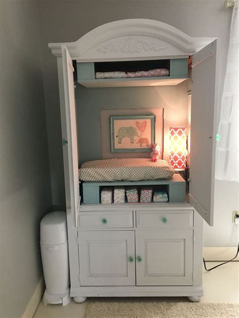 baby armoire closet armoire converted to changing table baby 3 nursery