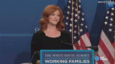mad mens christina hendricks speaks  working moms