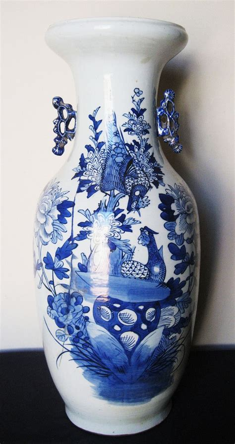 Blue And White Vase Made In China by Early 19th C Porcelain Blue White Vase