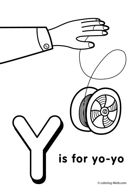 the letter y coloring pages coloring home