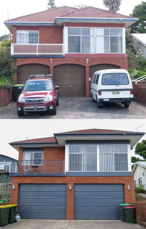 brick house renovation before and after view topic before after 80 s red brick exterior makeover no render home
