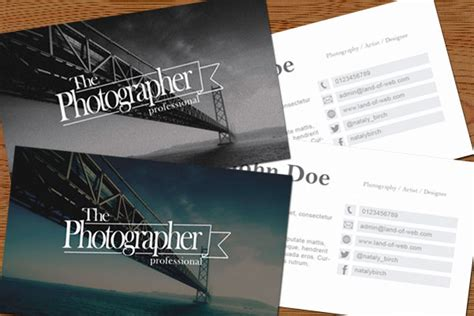 photographer business card template psd professional photographer business card psd template