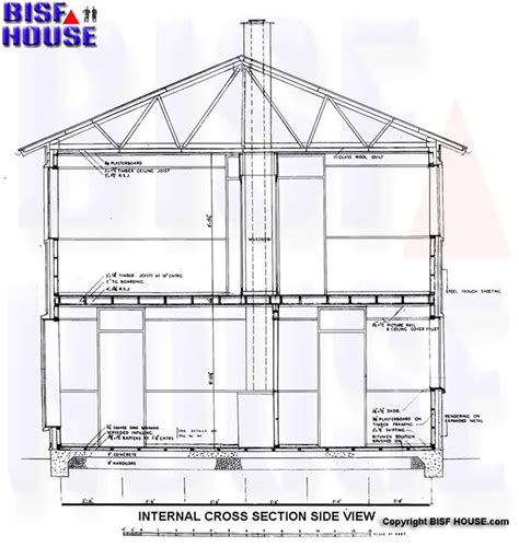 side view house plans bisf house architectural building plans bisf house