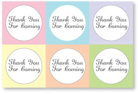 thank you favor tags template 6 best images of free printable favor tags baby baby