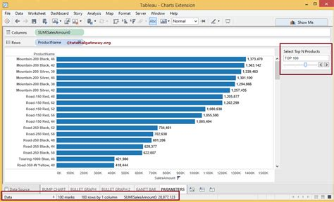 tableau product tutorial creating tableau parameters and use them in filters