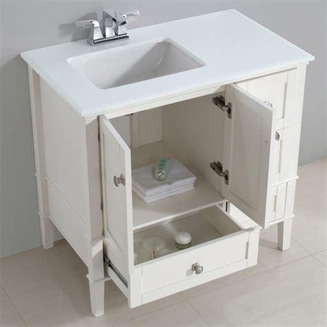 left bathroom vanity simpli home chelsea 36 quot left offset bath vanity with white