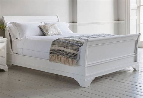 Gallery Direct   Aurelia Sleigh Beds   Hand Painted White