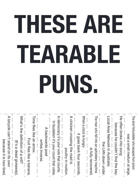 These are tearable puns   Dobrador   Puns, Signs