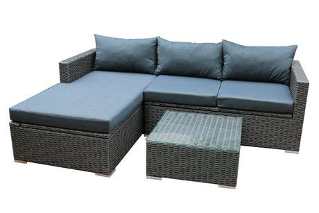 emmett sectional patio flare emmett deep seating sofa sectional set with