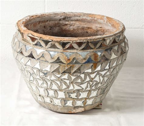 Mirror Mosaic Vase by A Large Mirrored Mosaic Vase At 1stdibs