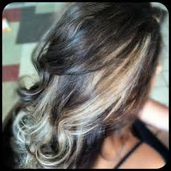 peek a boo hair color ideas hair with chunks black hair with