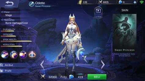 wallpaper mobile legend odette build odette mobile legends cara menggunakannya