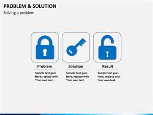solution design template problem and solution powerpoint template sketchbubble