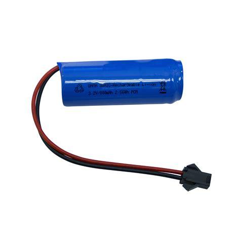3 2 volt battery for solar lights gama sonic ifr18500 3 2v 800mah li ion battery pack