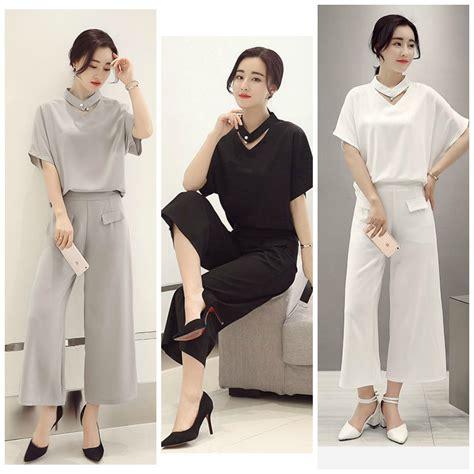 Set Celana Dan Jaket baju fashion korea terbaru celana wanita korea baju