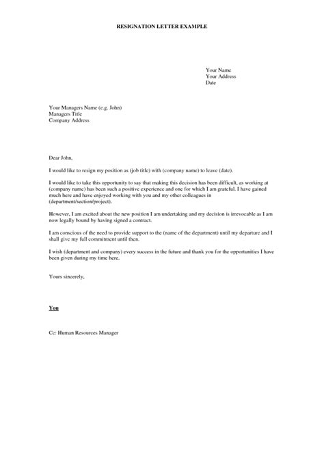 Resignation Letter Exle by Resignation Letter Format Succeed Opportunity Letters Of Resignation Exles Givens Polites