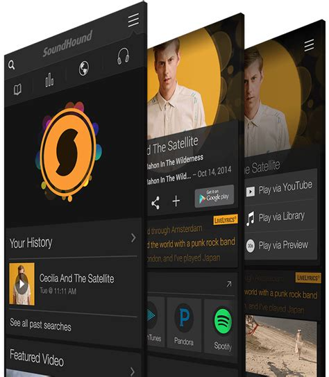 soundhound android image gallery soundhound