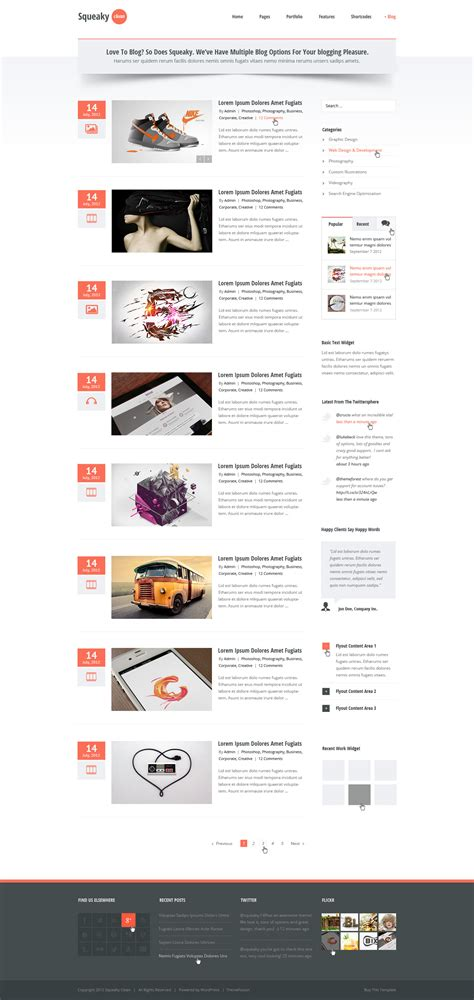 blog theme like medium squeaky clean psd by lbeck themeforest