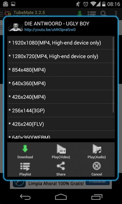 ytd android apk free ytd downloader for android mobile