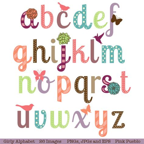 free printable fonts for scrapbooking girly alphabet scrapbook aphabet font with birds butterfly