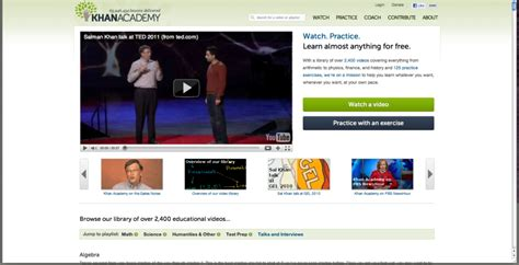 khan tutorial website khan academy a great free website for learning a
