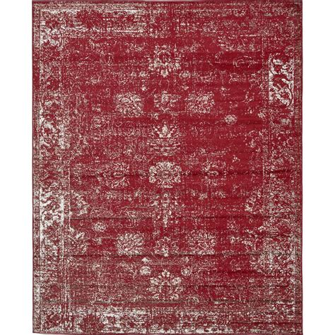 burgundy area rugs 8 x 10 unique loom monaco burgundy 8 ft x 10 ft area rug 3134051 the home depot