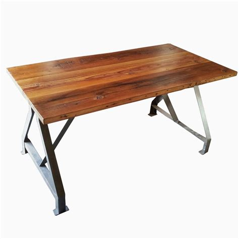 buy a hand made factory work table with industrial metal