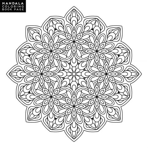 mandala coloring pages vector mandala vector vectors photos and psd files free