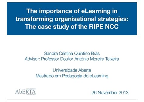 e learning thesis research master s thesis the importance of elearning in