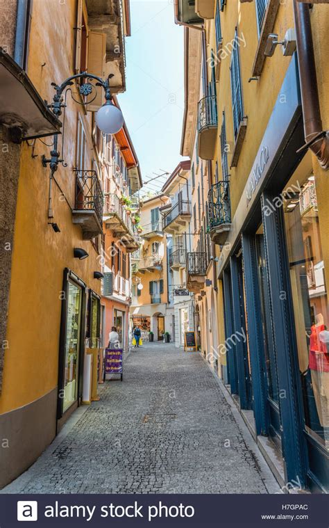 intra italien town of intra at lago maggiore verbano italy