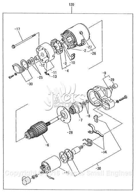 robinsubaru dy parts diagram  starter motor