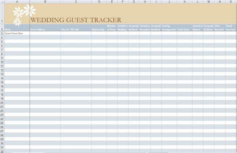 guest list template for wedding 7 free guest list templates excel pdf formats