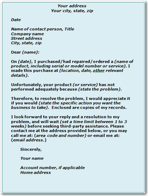 Writing Complaint Letter To Company Sle Dcp How To Help Yourself Ways To Solve A Problem With A Business